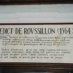 edit, roussillon, chateau, premier, jour, année, 1er, janvier, 454eme anniversaire de l'Edit de Roussillon, histoire, edit de roussillon