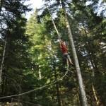 accrobranches, parc pilaventure, pilat, activité nature, forêt, camping, location, hébergement, caravane, tente, balade, famille