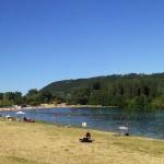 La plage de Condrieu, camping, Isere, location, caravane, gîte, chambre d'hôte, balade, activité, loisirs, randonnées, baignade, rivière